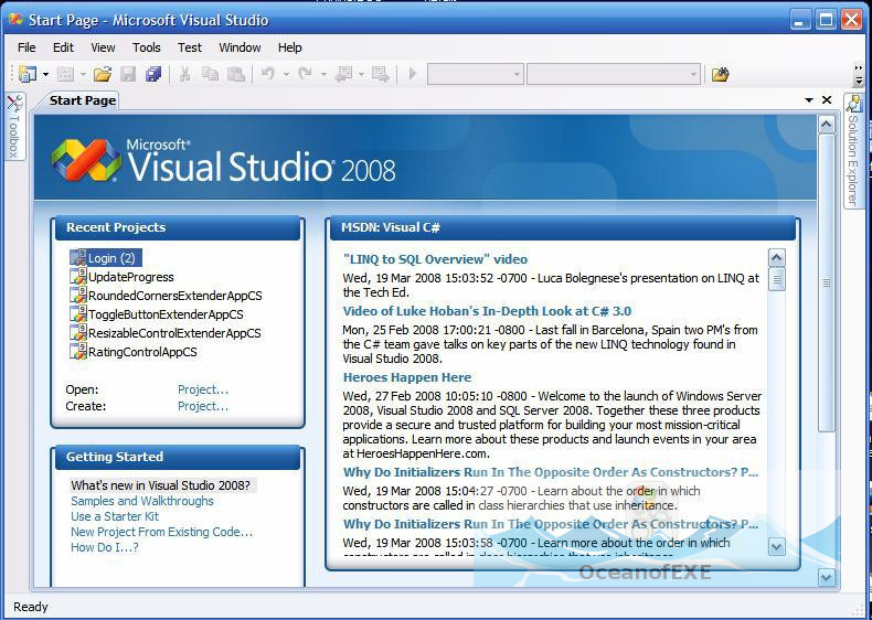 Visual Studio 2008 Latest Version DOwnload