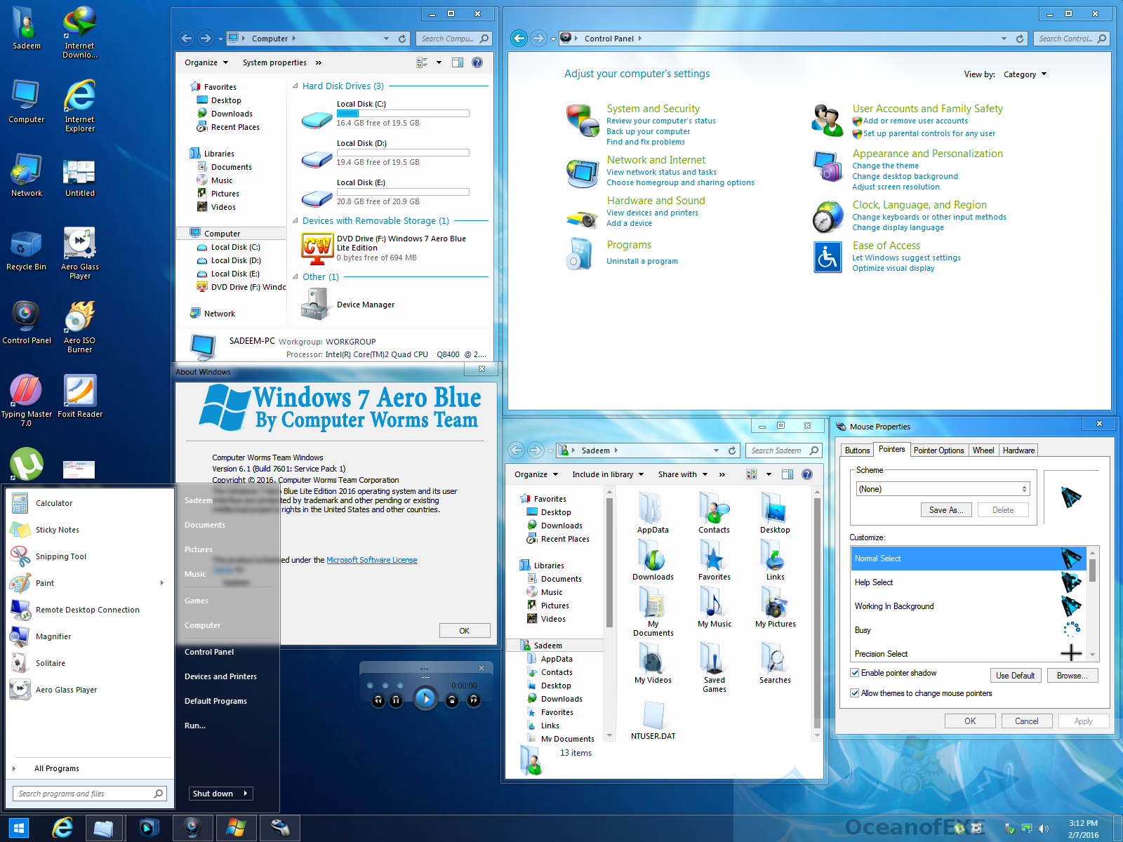 Windows 7 Aero Blue Edition Latest Version Download