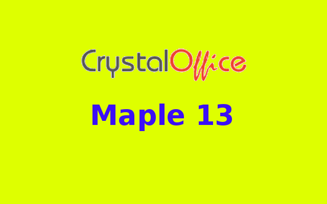 Maple 13 Free Download